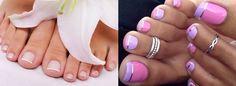 Картинки по запросу простой дизайн ногтей на ногах