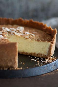 Coconut Condensed Milk Tart via Milk Recipes, Tart Recipes, Sweet Recipes, Fudge Recipes, Baking Recipes, South African Desserts, South African Recipes, Milktart Recipe, Coconut Tart