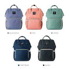 Amazon.com : Sunveno Mummy Maternity Nappy Bag Brand Large Capacity Baby Bag Travel Backpack Desiger Nursing Bag for Baby Care (Navy) : Baby