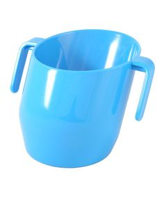 We LOVE this cup! We skipped the sippy cup and use this instead.  We plan to use something like the WOW cup for a spillproof cup when our daughter gets older. Look what I found on #zulily! Blue Doidy Cup by Bickiepegs #zulilyfinds