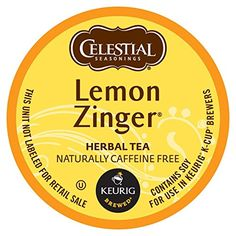 Celestial Seasonings Lemon Zinger Herbal Tea, K-Cup Portion Pack for Keurig K-Cup Brewers, 24-Count ** Check out this great product.