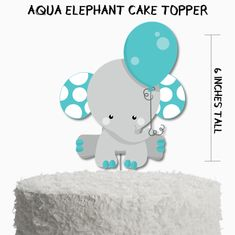 ► Cake toppers are made of card stock and are double sided ► Cake topper images are sized at approx tall, not including the stick► Printed in full color Elephant Cake Toppers, Elephant Cakes, Elephant Baby Showers, Baby Elephant, Elephant Stuff, Boys First Birthday Cake, Birthday Party Themes, Baby Shower Cakes, Baby Boy Shower