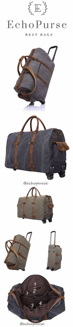 Charcoal Personalized Duffel Bag Rosegold Waxed Canvas