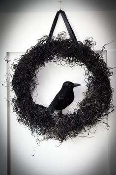 Halloween Craft: Black Moss Wreath