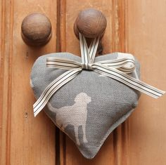 Grey Fabric Hearts, Wedding Fabric, Hanging Hearts, Labs, Ribbon, Textiles, Grey, Tape, Gray