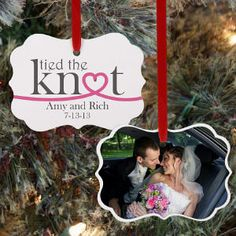 Personalized Wedding Photo Ornament