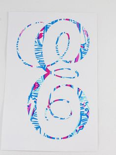 Lily Pulitzer Vinyl Monogram, Personalized Decal for Car, Yeti, Computer, Planner or notebooks.  Custom Lilly Inspired Vine Monogram, Preppy https://www.etsy.com/listing/472950118/lily-pulitzer-vinyl-monogram