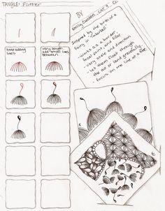 Flitter ~ Zentangle #tangle by Emily Classon #CertifiedZentangleTeacher