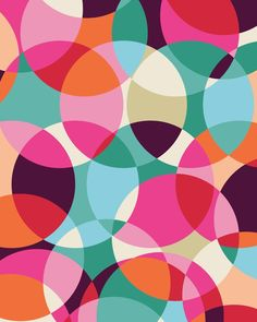 Textile Patterns, Color Patterns, Print Patterns, Lagom Design, Art Design, Pattern Art, Pattern Design, Circle Pattern, Quilt Modernen