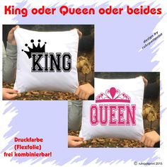 Partner Kissen King and/or Queen Version2 40x40cm 100% Baumwolle individuell | eBay