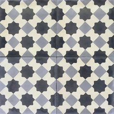 Handmade cement encaustic tiles. Contemporary / Contemporáneo design, Authentic Hydraulic Andalusian Tiles for both the floor and wall. MOD-133-B