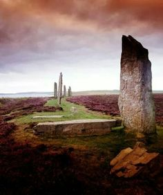 Ring of Brodgar, Orkney, Scotland.   Erected between 2500 BC and 2000 BC