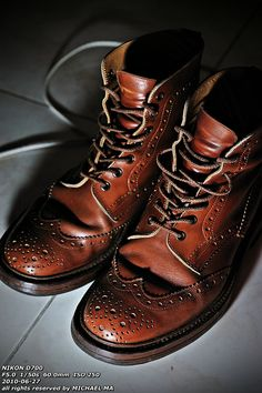 Fashion Men's Shoes. Wingtip Boots. #menfashion #menshoes [http://www.pinterest.com/alfredchong/]
