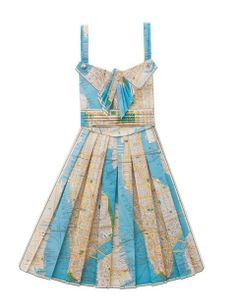 Beautiful handmade paper dresses crafted from vintage maps by Annex (j)  www.facebook.com/designdautore