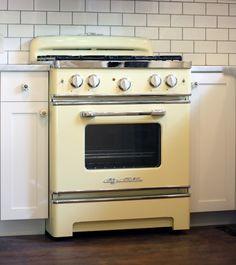 yellow oven Big Chill New Retro