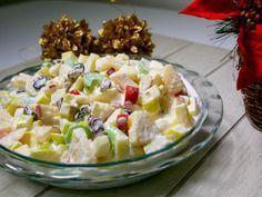 Receta de Ensalada Cremosa de Manzana, Apio y Piña