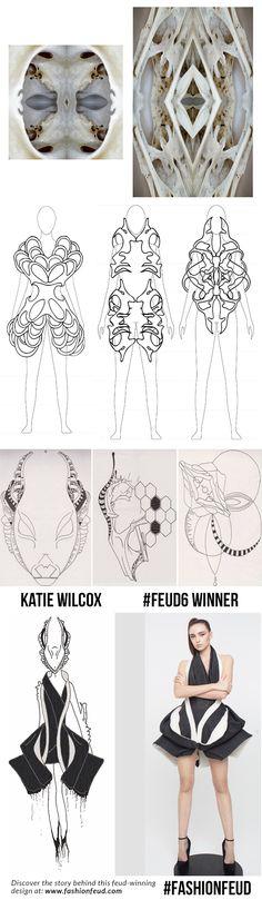 Fashion Sketchbook - fashion sketches; fashion design development // Katie Wilcox - a Feud Winning designer at Fashion Feud