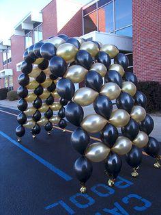 custom balloon arch denver colorado- lots of balloon ideas