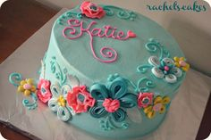 quilling flower cake