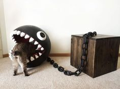 Cat Bed Inspired by Super Mario Bros. Chain Chomp Monster - Neatorama