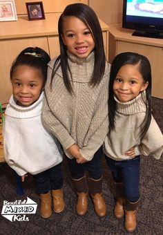 Jada - 6 Years, Aniyah - 5 Years & Camren - 4 Years • Italian & African American ♥️♥️♥️ FOLLOW @BEAUTIFULMIXEDKIDS http://instagram.com/beautifulmixedkids