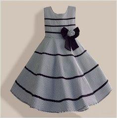 Vestido Infantil Xadrez Cinza Frete grátis