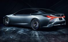 Download wallpapers Lexus LS  Concept, 2018, rear view, new hp, luxury sedan, 4k, Japanese cars, Lexus