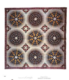 Mariner's compass design on a quilt, 1835. An American Sampler: Folk Art from the Shelburne Museum, by the National Gallery of Art.