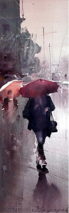 Dusan Djukaric Watercolor - I love that wetness this picture has retained, so hard to do!: