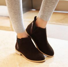 Department Name:Adult Item Type:Boots Shoe Width:Medium(B,M) Process:Adhesive Platform Height:0-3cm With Platforms:Yes Closure Type:Elastic band Boot Height:Ankle Toe Shape:Round Toe Insole Material:R