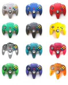 A few of the controller colors that were released on my favorite game system - Nintendo 64 (N64)