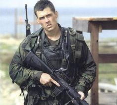 """Marcus Luttrell- """"The Lone Survivor"""" (Never forget)Marcus has a twin brother Morgan who is also a Nave SEAL."""