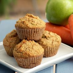 Carrot and Apple Muffins HealthyAperture.com