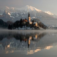 One of the best photos of Lake Bled I've seen (Slovenia) Beauty Around The World, Beautiful Places In The World, What A Wonderful World, Places Around The World, The Places Youll Go, Wonderful Places, Places To See, Around The Worlds, Amazing Places