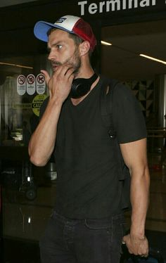Jamie Dornan arriving in LA for filming My Dinner with Herve