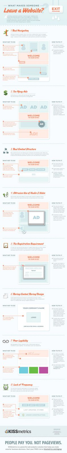 8 Deadly Sins of Site Design Infographic