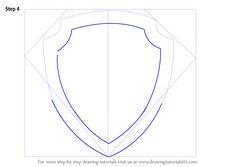 How to Draw Paw Patrol Badge - DrawingTutorials101.com                                                                                                                                                      More