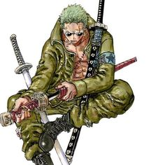 Roronoa Zoro Render 20 by RoronoaRoel on DeviantArt Roronoa Zoro, Zoro Nami, One Piece Main Characters, Anime Characters, Anime Guys, Manga Anime, Devilman Crybaby, One Piece Luffy, People Illustration