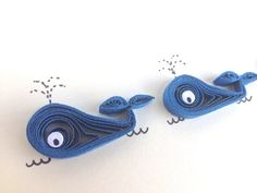 Quilled Card Quilled Blue Whales Sea themed by ElPetitTaller