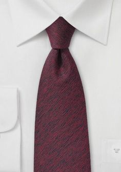 Krawatte Wolle rot
