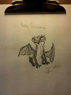 Baby dinosaur.