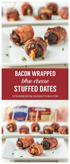 Make Bacon Wrapped Blue Cheese Stuffed Dates for your next appetizer! If you're planning on entertaining with a party, this recipe should be on your menu! Create this dish that will leave your guests in awe!
