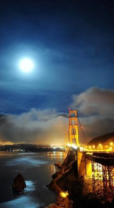 Golden Gate bridge during the full moon! // by michael'sphotography on Flickr