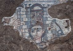 Mosaic unearthed in Galilee shows Samson carrying the town gates of Gaza on his shoulders. The mosaic was found while excavating the 5th century AD synagogue at the village of Huqoq.  Other sections of the mosaic depict several men and an elephant, as wel as a wounded bull and a dead soldier.