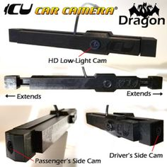 The Dragon ICU Car Camera is a 3-way dash cam with FRONT (HD Low-light wide-angle vision), LEFT (wide-angle), and RIGHT (wide-angle) CAMERAS
