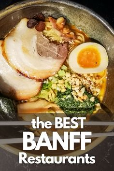 Here are our top picks for places to eat in Banff, Alberta Canadian Travel, Canadian Rockies, Road Trip Food, Banff Alberta, Visit Canada, Places To Eat, Time Travel, Times