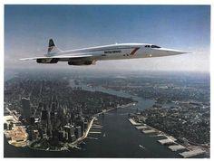Concorde over the Big Apple