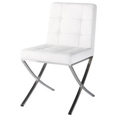 Kyoto - Polyurethane and stainless steel chair in white