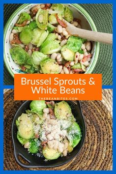 This easy one-pot recipe pairs sautéed brussel sprouts and pancetta with white beans for an Italian-inspired gluten-free dinner. Can be served as a main course or as a side dish for roasted or grilled meats. Tasty | Easy | One Pot | Chickpea Recipes, Vegetarian Recipes, Brussel Sprouts With Pancetta, One Pot Meals, Easy Meals, White Bean Recipes, Gluten Free Dinner, Pot Recipe, Grilled Meat