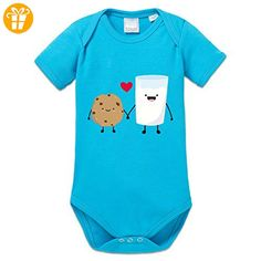 Cookie And Milk In Love Baby Strampler by Shirtcity - Baby bodys baby einteiler baby stampler (*Partner-Link)
